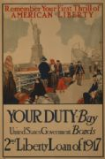 American WW1 Poster, Liberty loan of 1917.